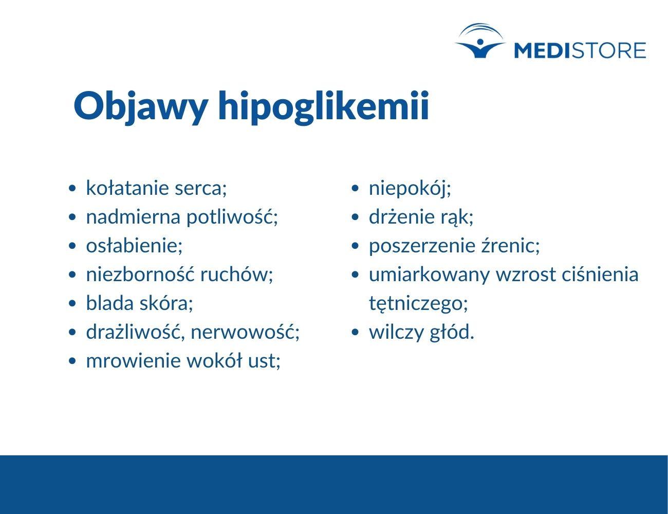 hipoglikemia objawy